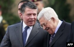 Iordaniya qiroli Abdulla va Falastin prezidenti Mahmud Abbos