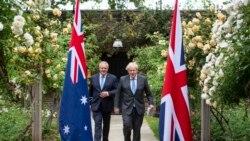 英法領導人支持澳大利亞反抗中國的經濟脅迫