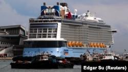 "Du thuyền ""The Quantum of the Seas"" tại Singapore."