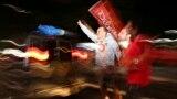 A festa pela avenida Paulista após a declaração de vitória de Dilma Rousseff do PT nas eleições de 26 de Outubro realizadas no Brasil. São Paulo, 2014