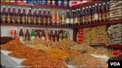 کراچی: خشک میوہ جات دکان میں فروخت کیلئے رکھے ہیں