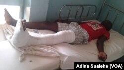 Trata-se do segundo incidente envolvendo apoiantes da Frelimo. Na imagem, apoiante ferido em Nampul.