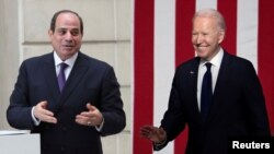 د امریکا صدر جو بایډن - د مصر صدر عبدالفتاح السیسي