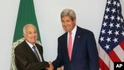 克里國務卿會見阿拉伯聯盟秘書長阿拉比。