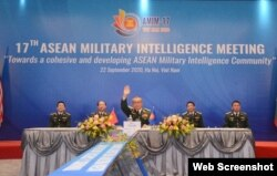 Trung tướng Phạm Ngọc Hùng, Tổng cục trưởng Tổng cục II, Chủ tịch AMIM, chủ trì hội nghị ngày 22/09/2020. Photo QDND.