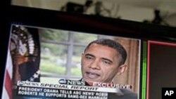 9일 방송 인터뷰에서 동성혼 지지 의사를 밝힌 바락 오바마 미국 대통령