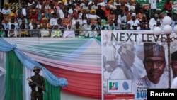 Lancement de la campagne électorale du président sortant Muhammadu Buhari, à Uyo, au Nigeria, le 28 décembre 2018.