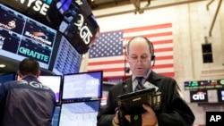 在纽约股票交易所里(2017年2月23日)