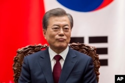 FILE - South Korean President Moon Jae-In.