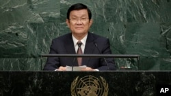 Cuối năm 2015, trong bài phát biểu trước Đại hội đồng Liên Hiệp Quốc, ông Trương Tấn Sang, Chủ tịch Việt Nam khi ấy, cũng nhắc tới vấn đề Biển Đông.