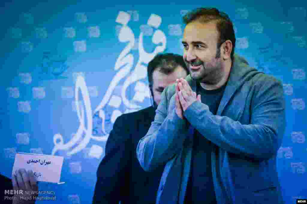 مهران احمدی بازیگر در سی و پنجمین جشنواره فیلم فجر و فرش قرمز این جشنواره عکس از مجید حق دوست