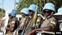 Pasukan penjaga perdamaian PBB di Darfur.