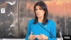 Duta Besar Nikki Haley, Perwakilan Tetap AS untuk PBB. (Foto:Dok)