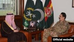 دیدار عادل الجبیر وزیر خارجه عربستان سعودی با ژنرال رحیل شریف رئیس ستاد مشترک ارتش پاکستان در اسلام آباد - آرشیو