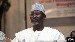 Attahiru Jega, Ketua Komisi Pemilu Nasional Independen Nigeria.