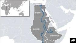 The Nile River runs through many countries