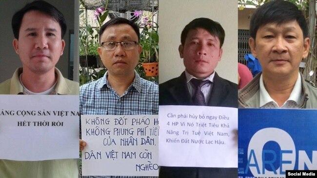 Các nhà hoạt động nhân quyền vừa bị chính quyền Việt Nam bắt giữ.