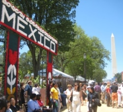 Visitors exploring this year's Smithsonian Folklife Festival