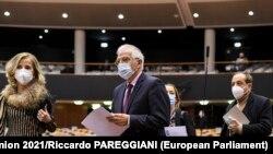 Жозеп Борель на засіданні Європейського парламенту щодо Росії 9 лютого 2021 р.
