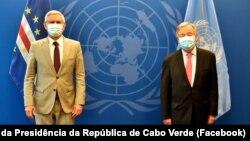 Jorge Carlos Fonseca, Presidente de Cabo Verde, e António Guterres, secretário-geral da ONU, 21 de Setembro de 2021