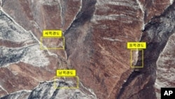 핵실험 장소로 추정되는 함경북도 길주군 풍계리 인공위성 사진(자료사진)