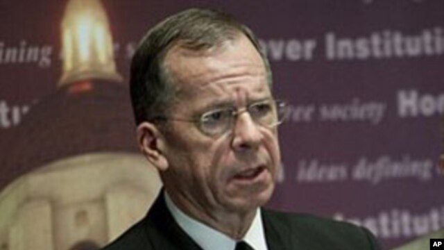 The Chairman of the Joint Chiefs of Staff, Navy Admiral Mike Mullen (file photo)