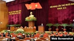 Hội nghị Ban chấp hành Trung ương 13, khóa XII của Đảng Cộng sản Việt Nam, bế mạc hôm 09/10/2020. Photo VietnamNet.