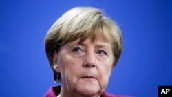 La chancelière Angela Merkel lors d'une conférence de presse à Berlin, Allemagne, le 18 novembre 2016. (AP Photo/Markus Schreiber)