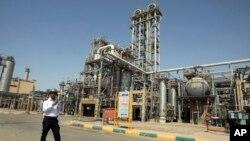 Planta petroquímica Maroun en el puerto Khomeini, en el suroeste de Irán.