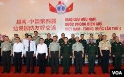 Lễ đón Thượng tướng Phạm Trường Long tại Cửa khẩu Ma Lù Thàng (Lai Châu, Việt Nam) ngày 23/9/2017. (Hình: Bộ Quốc phòng VN)