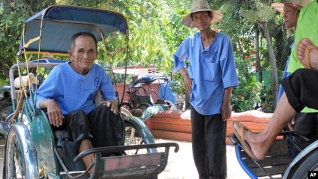 Oum Sok began working as a cyclo driver when he was 18. He says the city has become very expensive over the years, making it much harder to earn a living.