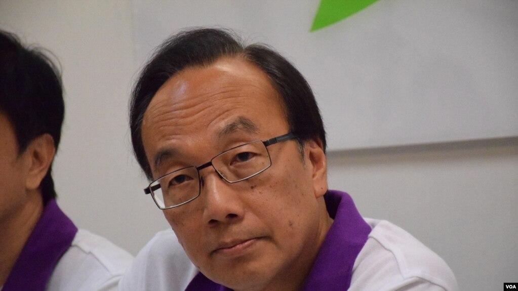 香港公民黨主席梁家傑(美國之音湯惠芸攝)