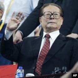 中国执政党退休的首脑、前国家主席江泽民
