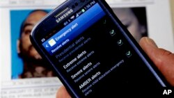 Sistem peringatan darurat dalam ponsel warga AS.