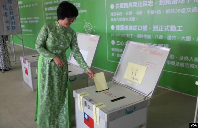 模拟投票 (民进党文宣提供)