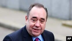 FILE - Scotland's First Minister Alex Salmond.