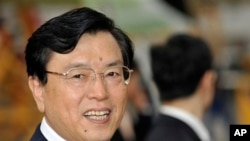 장더장 중국 전국인민대표대회 상무위원장 (자료사진)