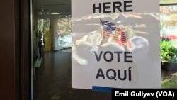 Assembleia de voto em Virgínia, no dia 8 de Novembro, dia de eleições nos EUA