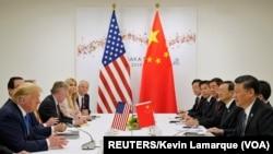 美國總統特朗普和中國國家主席習近平6月29日在日本大阪同意貿易戰暫時休兵。