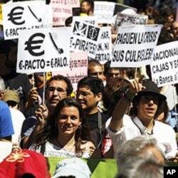 Marche en direction du parlement espagnol à Madrid (19 juin 2011)