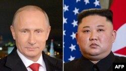 Le dirigeant nord-coréen Kim Jong Un et le président russe Vladimir Poutine