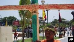 Manifestante em Luanda, em 2011 (foto de arquivo)