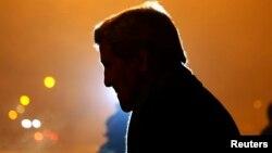 Джон Керри после прибытия в Софию, 15 января 2015.