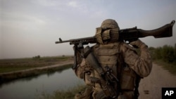 Infante de marina estadounidense en el sur de Afganistán.
