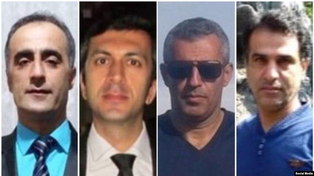 از چپ به راست: خلیل دهقان پور، محمد وفادار، کمال نعمانیان، و حسین کدیور