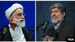 علی مطهری نماینده مجلس و احمد جنتی دبیر شورای نگهبان