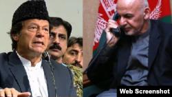 Presiden Ashraf Ghani (kanan) dan Perdana Menteri Pakistan terpilih, Imran khan (kiri).