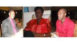 Abatumire mu kiganiro Dusangire Ijambo: Patrick Kwizera; Aline Nzeyimana na Jean Baptiste Ndayishimiye