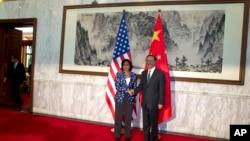 Savetnica za nacionalnu bezbednost Suzan Rajs tokom susreta sa kineskim državnim savetnikom Jangom Điječijem