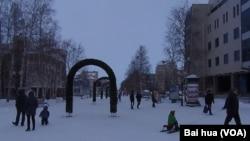 漢特-曼西斯克市中心 (美國之音白樺拍攝)